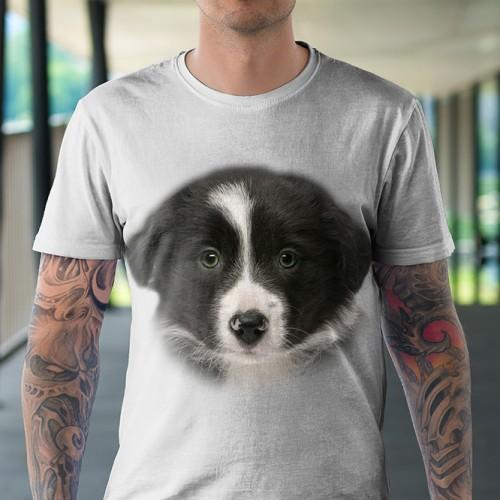 Koszulka z Border Colie Szczeniak   Koszulki 3D   Tulzo   - Tulzo