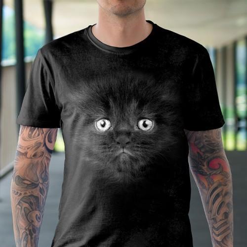Koszulka Basic z Małym Czarnym Kotkiem - Tulzo