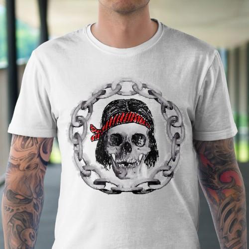 Koszulka z Czaszką z Łańcuchem Tul-Art - Tulzo