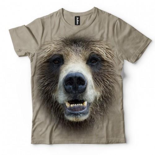 Koszulka z Niedźwiedziem | Niedzwiedz | Koszulki ze zwierzętami 3D | Tulzo - Tulzo