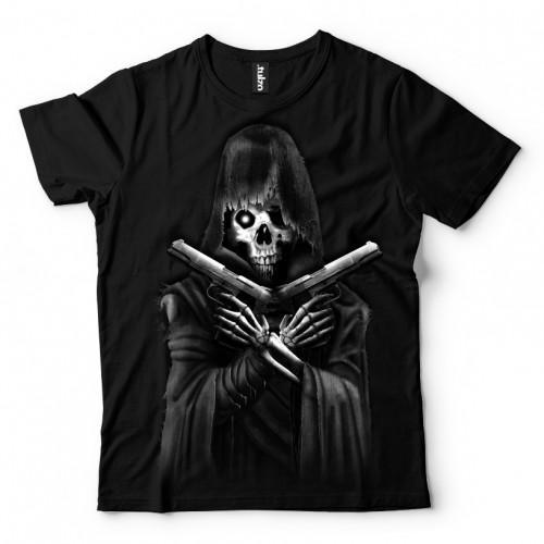 Koszulka Basic z Śmiercią z pistoletami - Tulzo