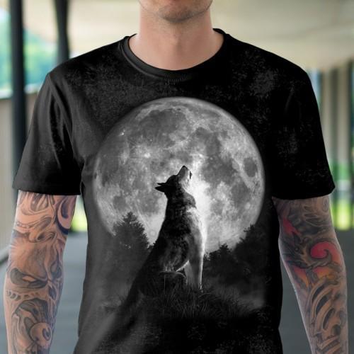 Koszulka Basic z Wyjącmy Wilkiem - Tulzo