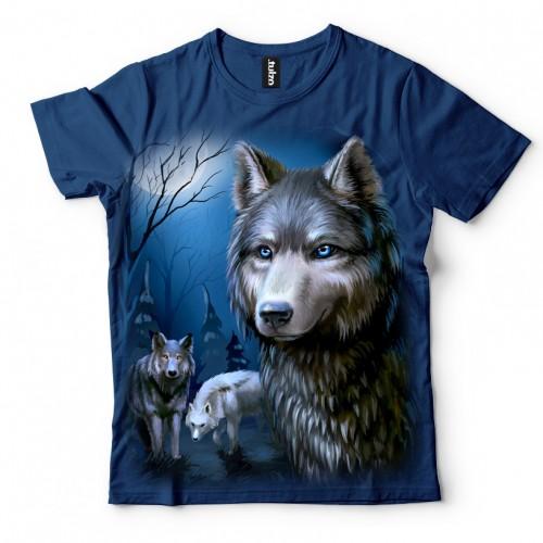 Koszulka z Wilkami - Koszulki z Wilkami 3D | Wilki | | Koszulki ze zwierzętami 3D | Tulzo - Tulzo