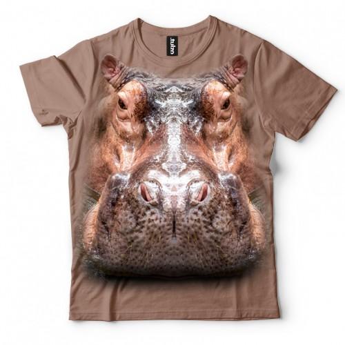 Koszulka z Hipopotamem | Hipopotam | Koszulki ze zwierzętami 3D | Tulzo - Tulzo