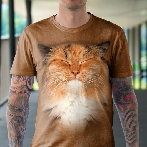 Koszulka z Rudym Kotem | Kot | Kotek | Koszulki 3D | Tulzo | - Tulzo