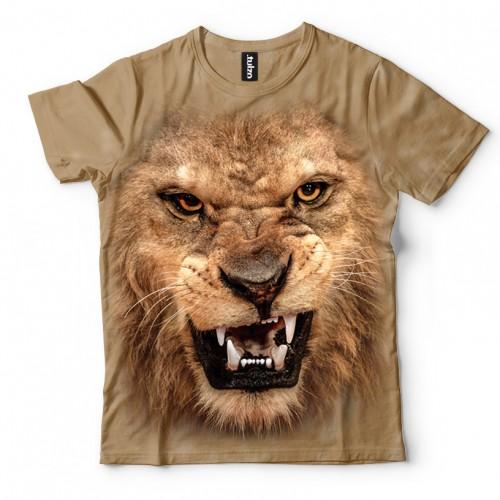Koszulka z lwem | Lew | Koszulki 3d | Koszulka 3d | t-shirt 3d | t-shirts 3d - Tulzo