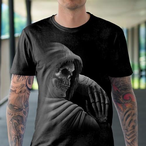 Koszulka Basic z Śmiercią z Kosą - Tulzo