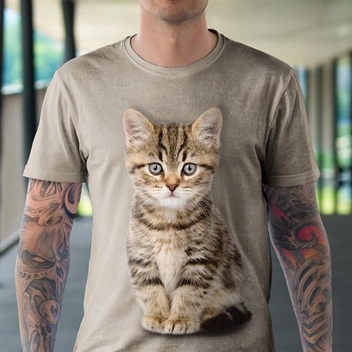 Koszulka z małym kotkiem   Kot   Kotem   Kotami   Koszulki 3D   Tulzo   - Tulzo