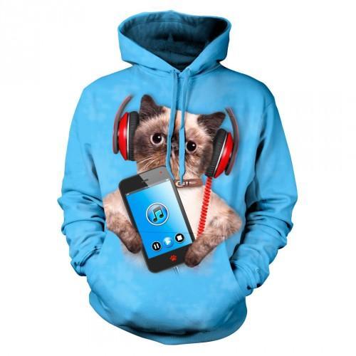 Bluza z Kotem z telefonem   Bluzy z kotami   Tulzo - Tulzo