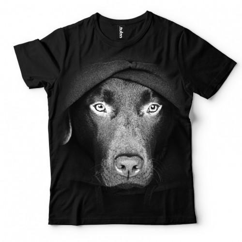Koszulka Basic z Labradorem z Kapturem - Tulzo