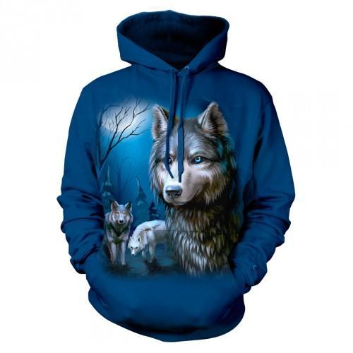 Bluza z wilkami - bluzy z wilkami 3D | Bluza | Bluzy | Bluzy 3D | Bluza 3D - Tulzo