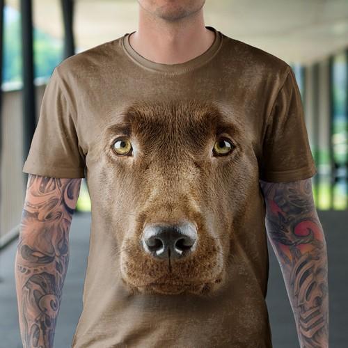 Koszulka z Labradorem Czekoladowym | Labrador Czekoladowy | Koszulki 3d | Koszulka 3d | t-shirt 3d | t-shirts 3d - Tulzo