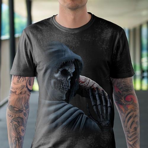 Koszulka z Śmiercią z Kosą   Koszulki Śmierć   Tulzo   - Tulzo