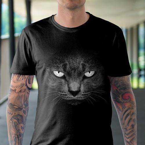 Koszulka Basic z Złym Kotem - Tulzo