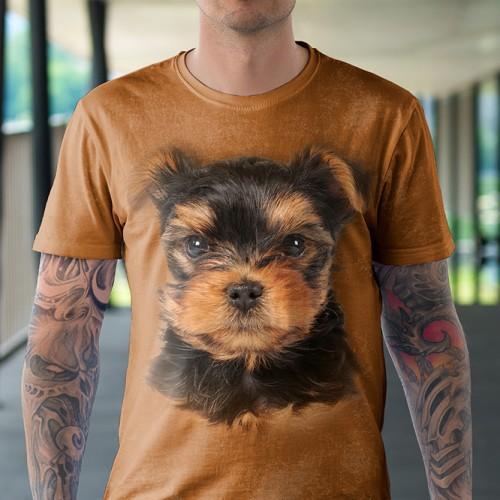 Koszulka z Yorkiem | York | Pies | Koszulki ze zwierzętami 3D | Tulzo - Tulzo