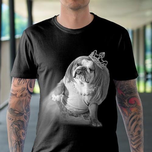 Koszulka Basic z Piesem Księżniczka - Tulzo