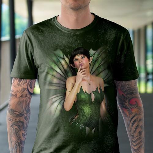 Koszulka z Zieloną Wróżką | Koszulki dla dzieci | Tulzo - Tulzo
