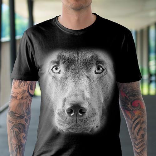 Koszulka Basic z Labradorem Czekoladowym - Tulzo