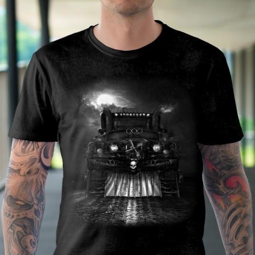 Koszulka Basic z Nocną jazdą - Tulzo