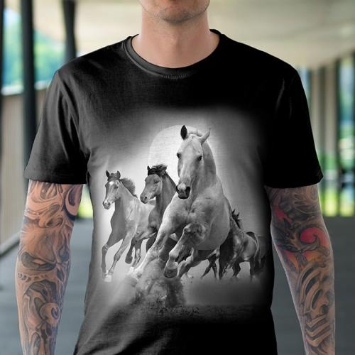 Koszulka Basic z Końmi - Tulzo