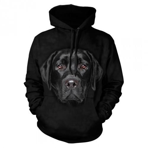 Bluza z Czarnym Labradorem | Bluza | Bluzy | Bluzy 3D | Bluza 3D - Tulzo