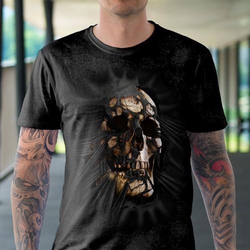 Koszulka z Czaszką wychodząca z koszulki   Czaszka   Tulzo - Tulzo