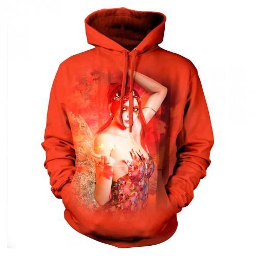 Bluza z Czerwoną Wróżką | Bluza | Bluzy | Bluzy 3D | Bluza 3D - Tulzo