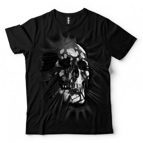 Koszulka Basic z Czaszką wychodząca z koszulki - Tulzo