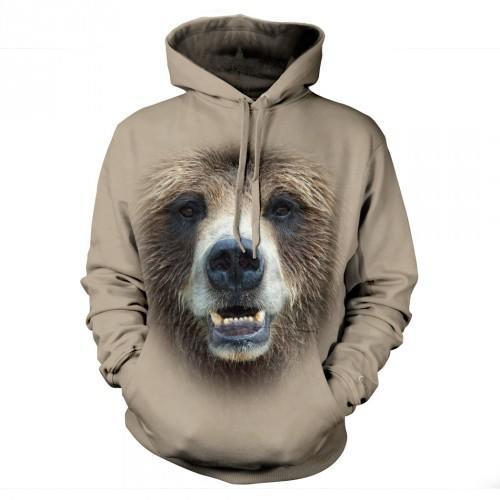 Bluza z Niedźwiedziem | Bluza | Bluzy | Bluzy 3D | Bluza 3D - Tulzo