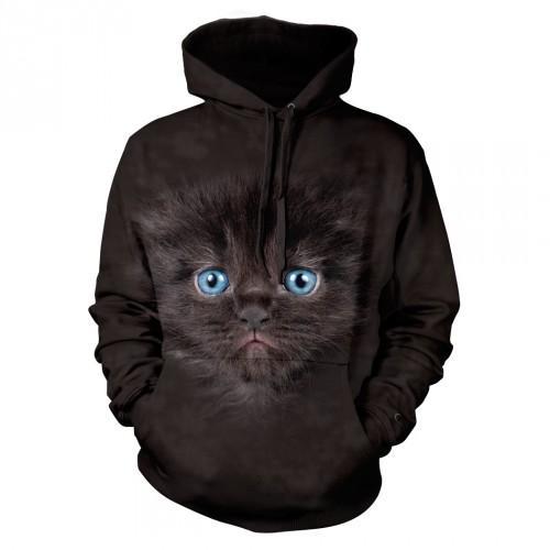 Bluza z Małym Czarnym Kotkiem | Bluza | Bluzy | Bluzy 3D | Bluza 3D - Tulzo