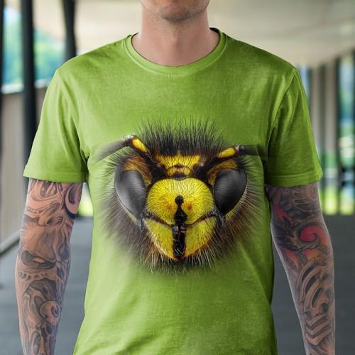 Koszulka z Osą | Osa | Koszulki 3d | Koszulka 3d | t-shirt 3d | t-shirts 3d - Tulzo